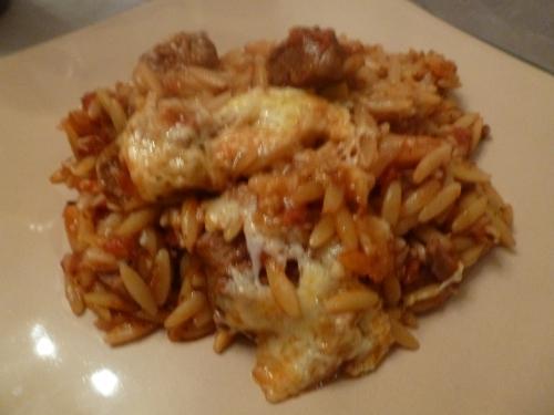 agneau,tomates,paprika,origan,graviera,kritharaki,cannelle