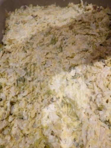 boudin noir,pommes de terre,oignons,ail,chou vert frisé,vinaigre de vin blanc,crème liquide,beurre,muscade